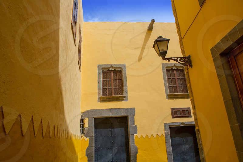 Las Palmas de Gran Canaria Vegueta colonial house facades Spain  photo