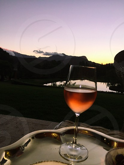 Wine by sunset photo