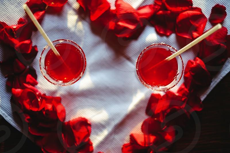 Valentine's day cocktails photo