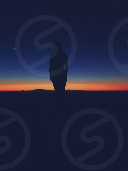 sunset horizon  photo