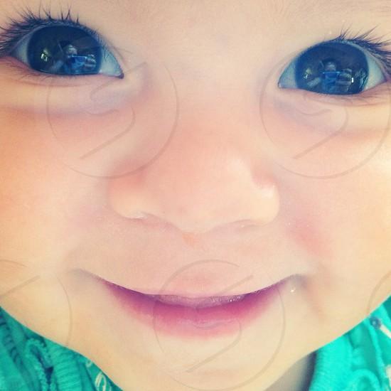 Baby face eyes eyelashes girl photo