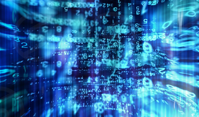 Digital data cyberworld abstraction photo