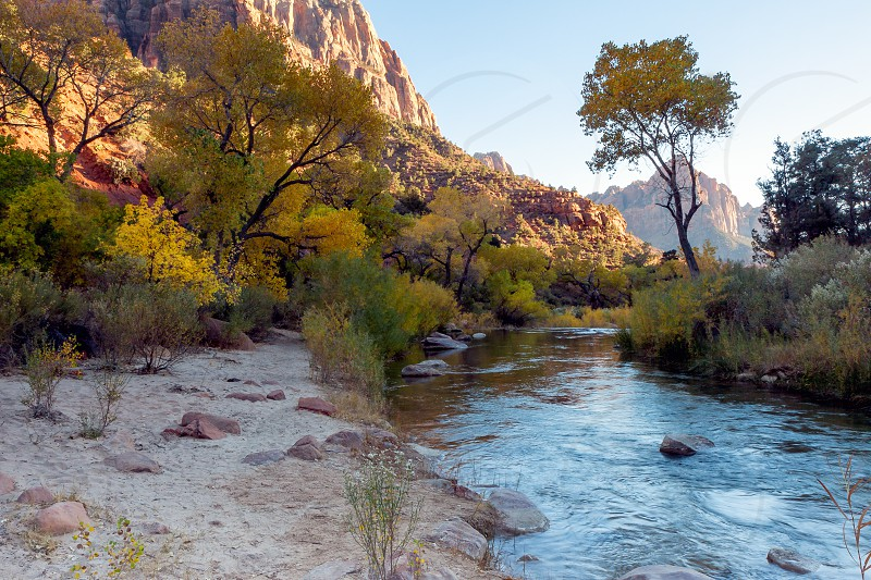 Late Afternoon at the Virgin River Valley photo