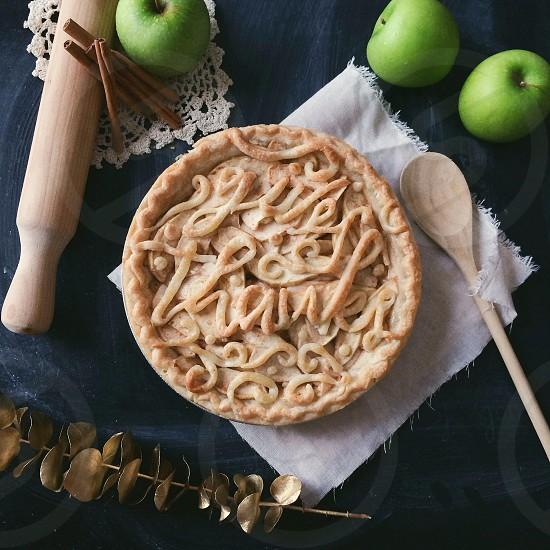 beige round pie with thanks message photo
