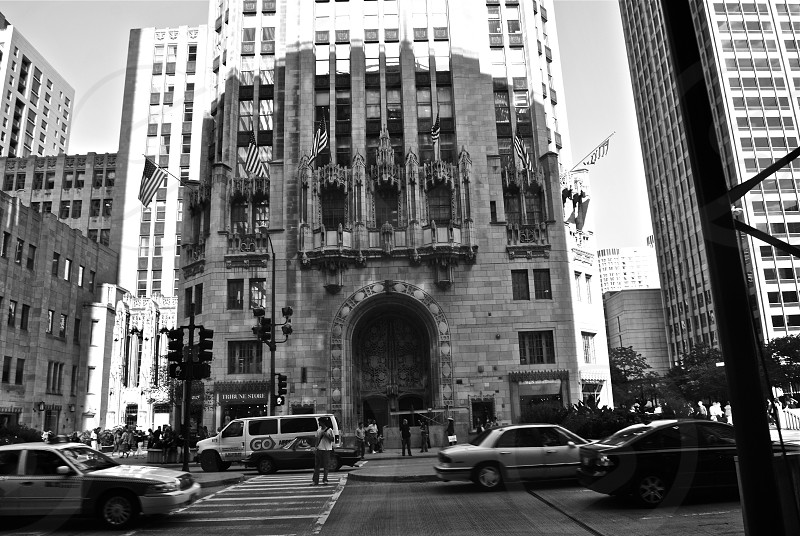 greyscale photo of building photo