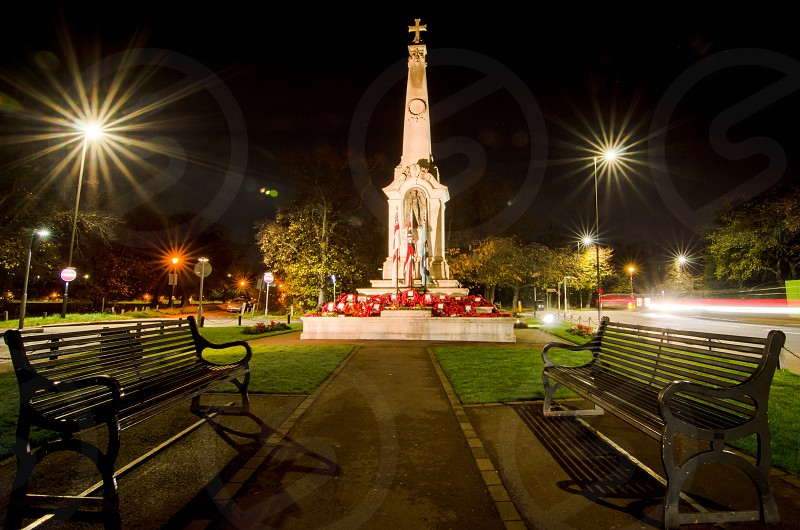 Wimbledon War memorial on remebrance day  photo
