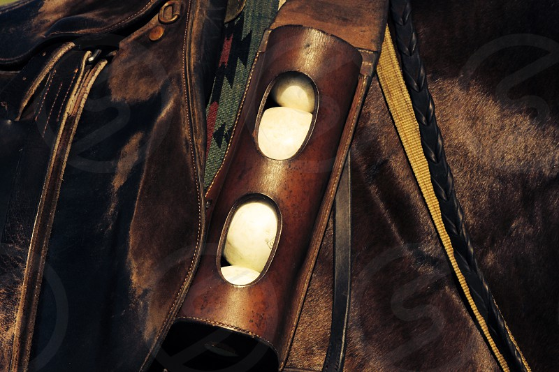 black leather holster photo
