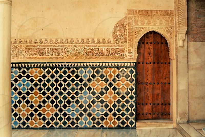 Door Alhambra Granada Spain photo