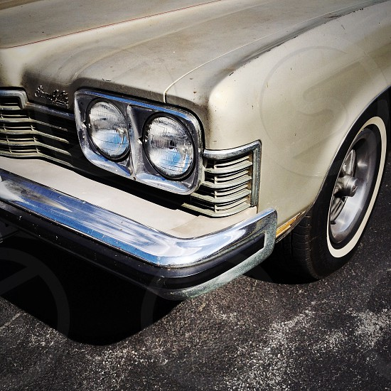 classic white car photo