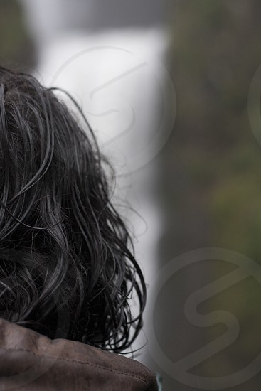 black human hair photo