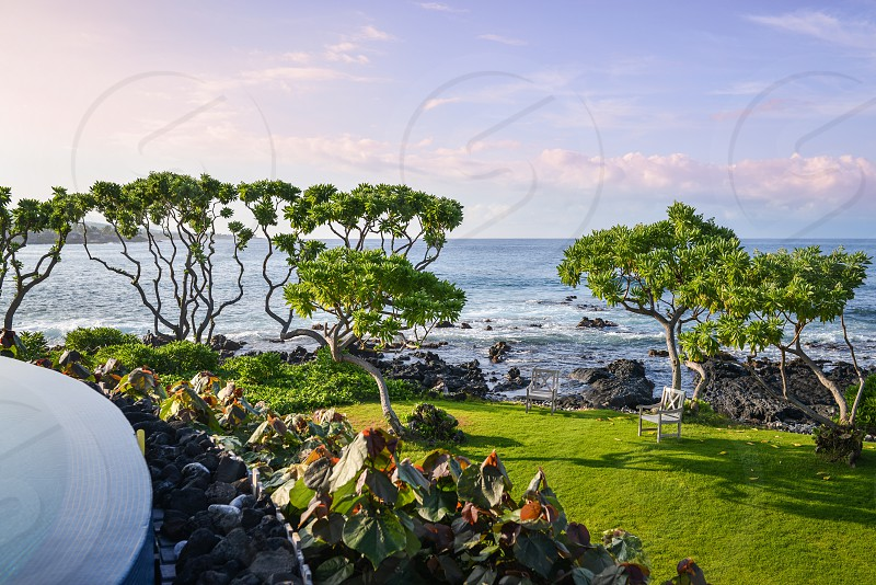 Beachfront property; tropical vacation; hawaii photo