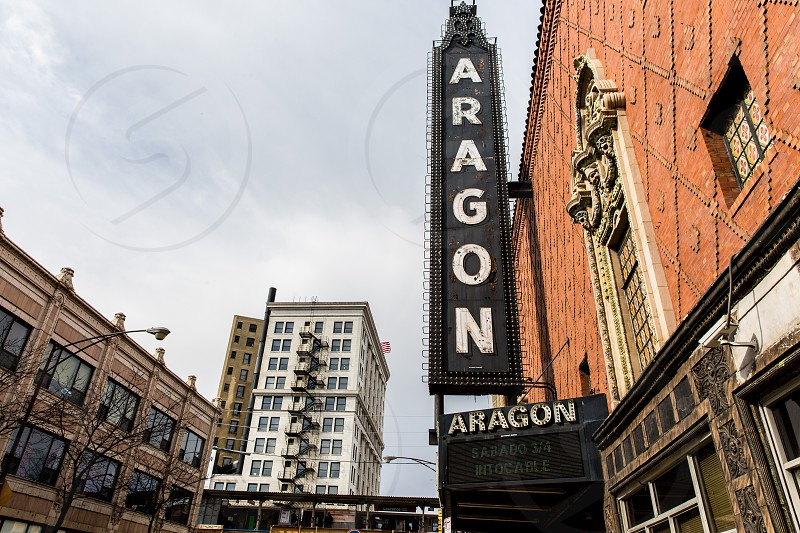 The Uptown neighborhood of Chicago IL. Aragon Ballroom is a famous music venue. photo