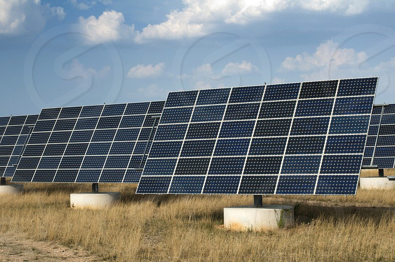 Solar Panels in industrial park photo