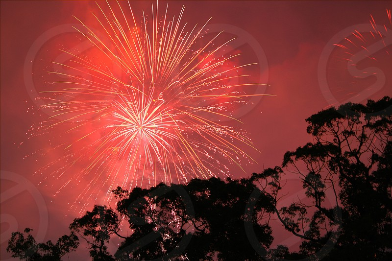 fireworks red light  photo