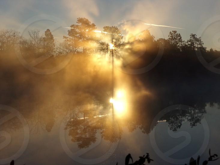 Rays of light sunrise in Interlachen Florida.  photo