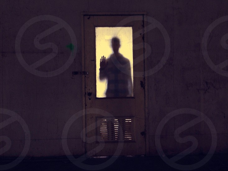 man at the door silhouette  photo