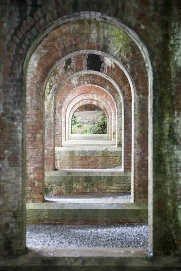 Philoshopher's path philosopher Kyoto japan traditional color orange colorful travel trip torism path arch aqueduct brick bricks architecture photo