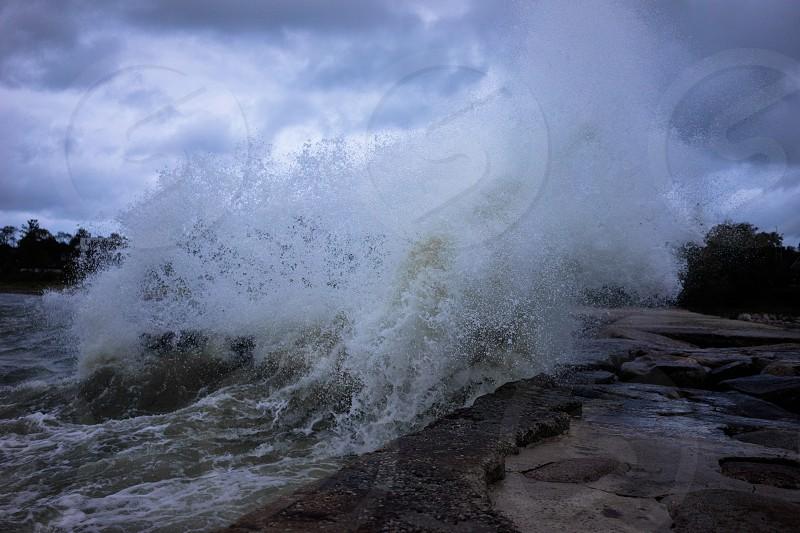 Nature lightroom wave storm photo