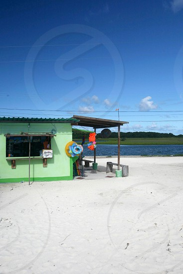 the village on the Gran Roque Island at the Los Roques Islands in the caribbean sea of Venezuela. photo