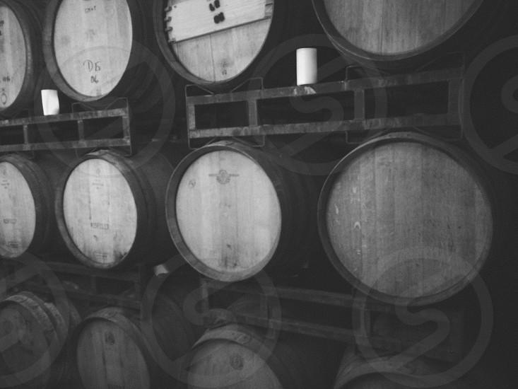 grey round barrels photo