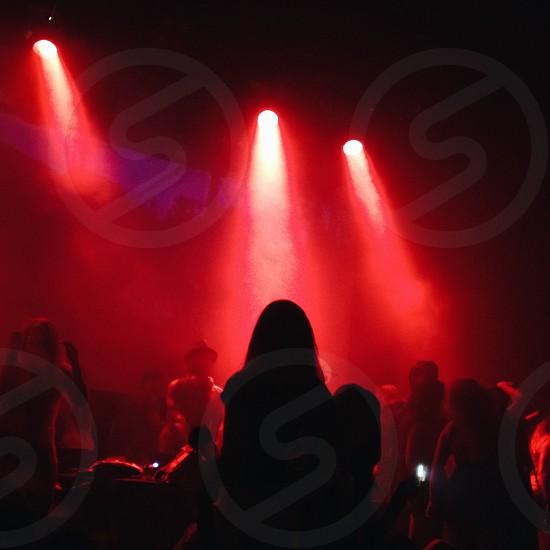 red spotlight in bar photo