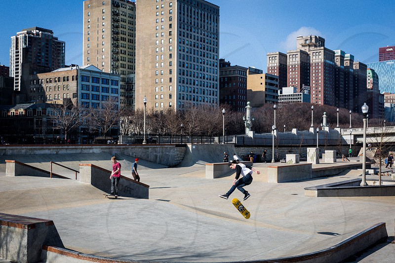 The south loop has a skatepark at Grant Park that is usually full of people all summer long. photo