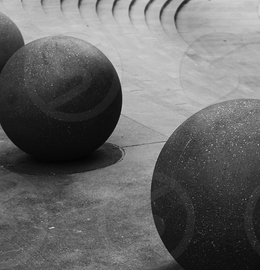 Round balls create this beautiful abstract shot photo