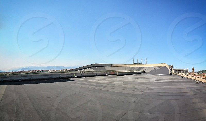 Turin Italy may 2011: roof top race track at lingotto former fiat car factory photo