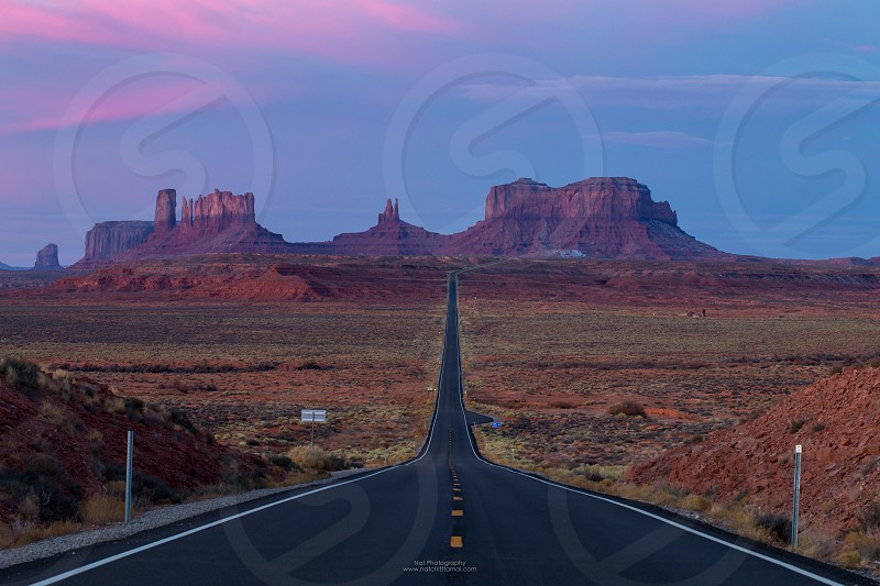This is the picture of Monument Valley during Sunset from Forrest Gump Utah photo