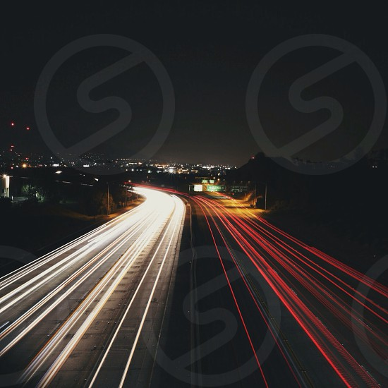 time lapse highway photograph photo
