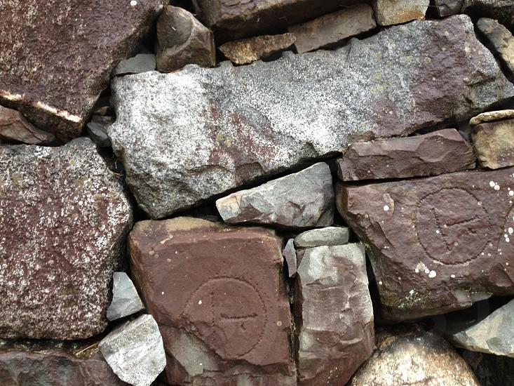 Nagoya castle foundation stones. photo
