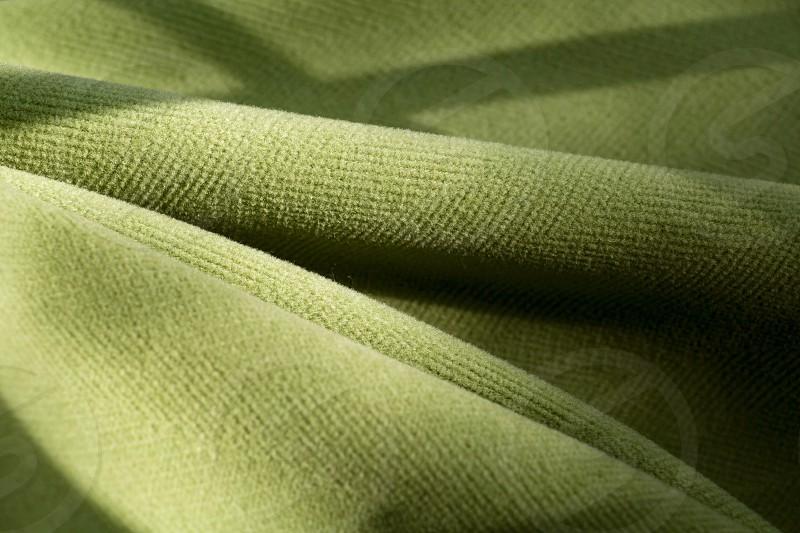 green textile photo