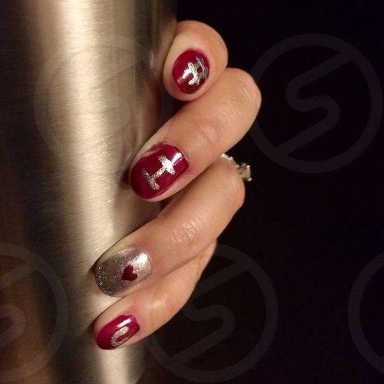 Nail art # i love you  photo
