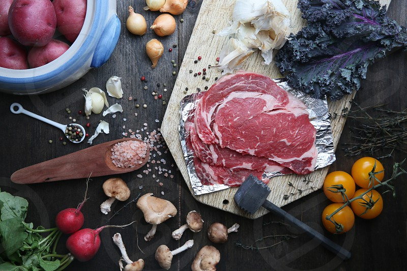 Steak healthy vegetables at home delicious food for the love of food photo
