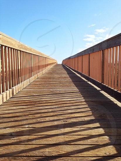 wooden foot bridge photo