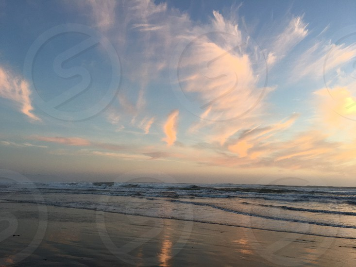Beach sunset pastel  photo
