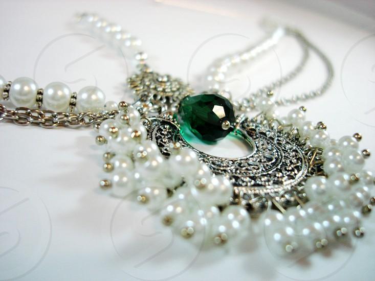 Indian jewellery headpiece. photo