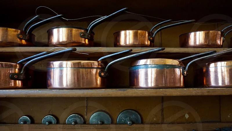 Victorian Cooking Pots Still-Life                               photo