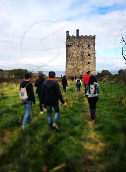 Castle; travel; Ireland; adventure; group; green;  photo