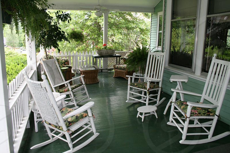 Front Porch Rocking Chairs American photo
