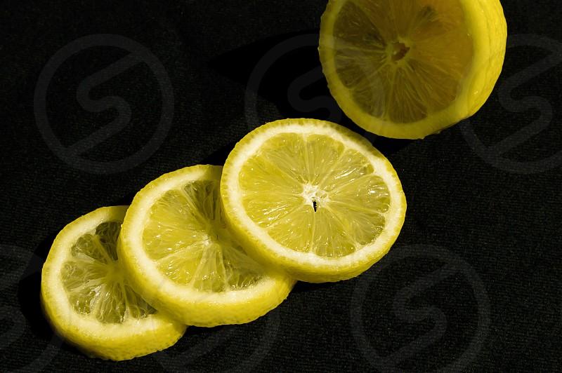 Yellow lemon vibrant photo