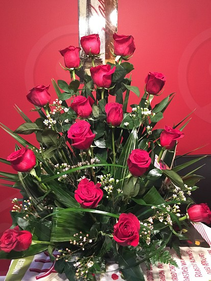 Roses love Valentine's Day; flowers bouquet  photo