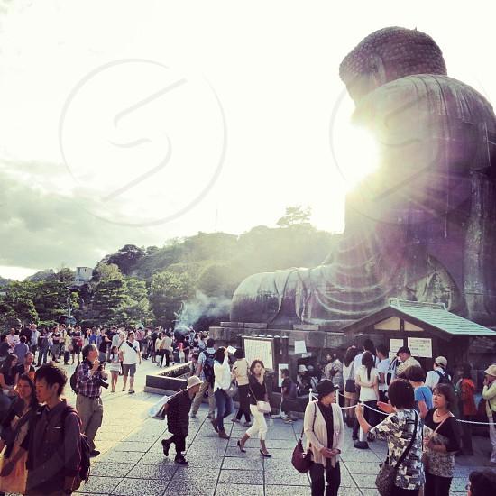 The Daibutsu (大仏; kyūjitai: 大佛?) or 'giant Buddha' in Kamakura Japan. photo