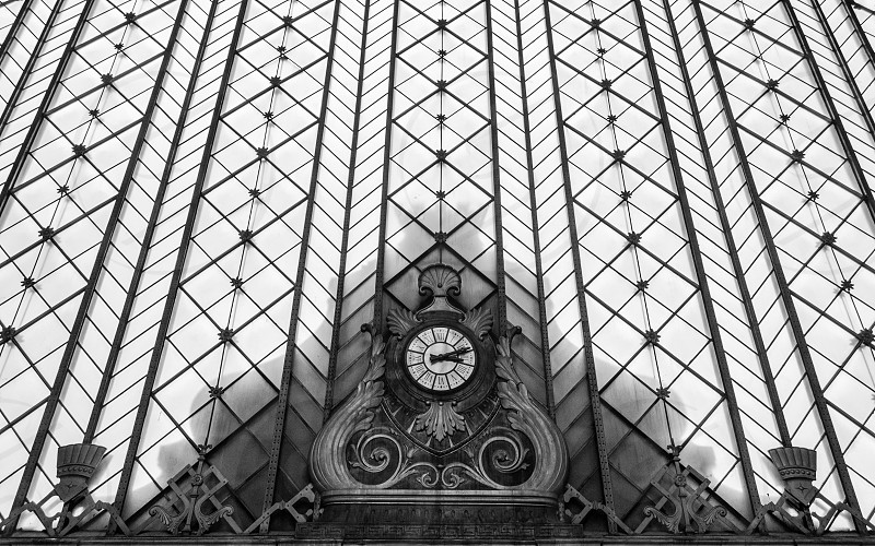 old clock at the railways station photo
