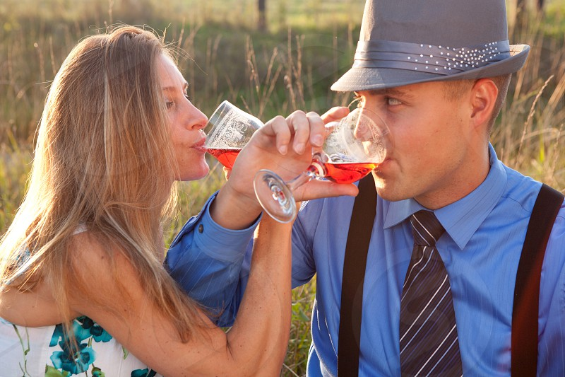 Couple Drinking photo