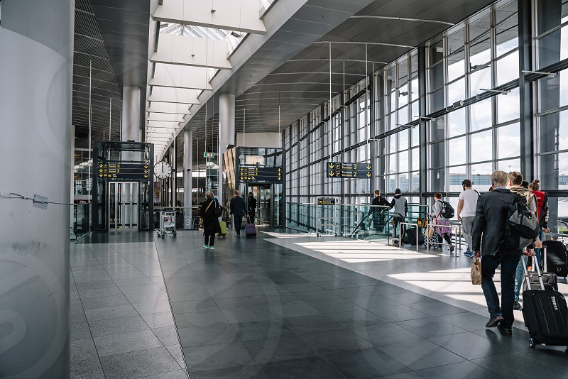 Interior view of Copenhagen Airport. It is the main international airport of Denmark photo