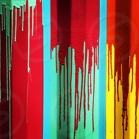 Paint drips and splatters. Colourful. Abstract.  photo