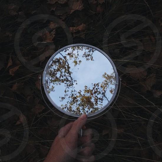 mirror autumn light reflection nature photo