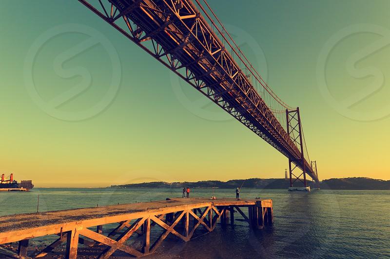 bridge 25th of April in Lisbon Portugal photo