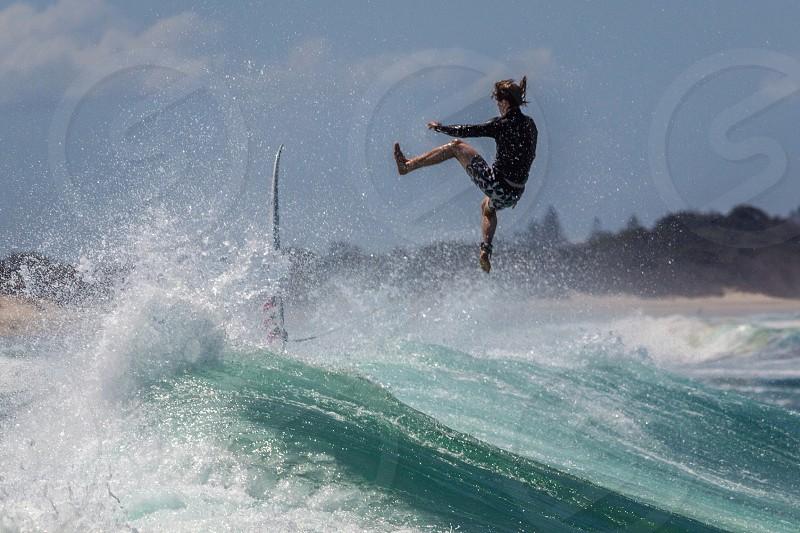 Extreme surf action dangerous sports photo